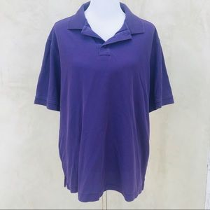 Nordstrom pique knit polo purple